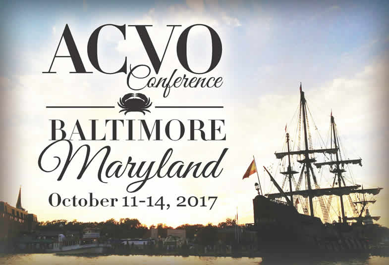 48th Annual Conference of the ACVO, Baltimore, MD October 11-14, 2017